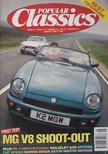 Popular Classics 08/1993 featuring MG RV8, MGB GT V8, Triumph, Astin Martin