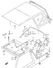 NEW Genuine Suzuki Vitara Soft Top Deck Canvas Roof Parts BOW FRAME BRACKET
