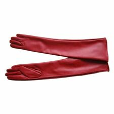 Women Winter Long Leather Gloves Over Elbow Glove Female Long Length Gloves