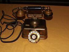 VINTAGE 1960s JAPAN BRASS ROTARY DIAL TELEPHONE MODEL JO-4