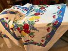Vintage Reproduction Fruit Cherries Tablecloth napkins towel Moda Crate Barrel