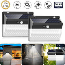 206LED Solar Power PIR Motion Sensor Wall Light Outdoor Garden Lamp Waterproof
