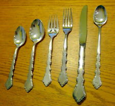 Oneida Community Vintage Stainless Steel Six Piece Place Setting