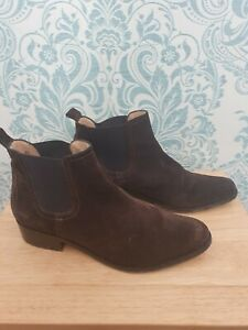 Hunter Brown Suede Ladies Chelsea Ankle Boots Size UK 7 (Eur 40 )