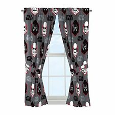 Star Wars Stormtrooper Curtains Set 2-panels +2 Tiebacks Drapes Force Awakens 7