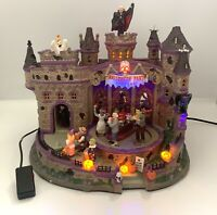 Rare LEMAX SPOOKY TOWN  2008 HALLOWEEN PARTY Lights- No Sound As Is