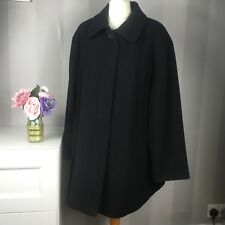 Marks and Spencer smart black women's winter coat (size 14) - 100% pure wool