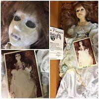 "Reborn Vampiric Doll Latrota Vampire Reborn By Hope Marie 4/3/07 OOAK Goth 20"""