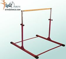 Gymnastics Bar Model DX, by Gym2Dance, Adjustable 3' - 5' solid wood, Free Ship
