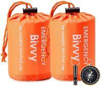 2 Pack Esky Emergency Sleeping Bag Thermal Waterproof Outdoor Survival Camping