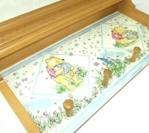 Disney Winnie the Pooh Wall Shelf Rack Coat Hanger Classic Pooh Nursery Decor