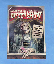 vintage CREEPSHOW promotional PROMO CARD
