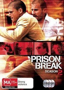 Prison Break : Season 2 Series Two COMPLETE (DVD : 6-Disc Set) AUSTRALIAN REG 4