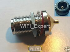 "N Female Jack Nut Bulkhead Solder Connector for Rg405 0.086"" Biquad Antenna Usa"