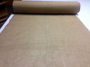 "Burlap Natural Fabric Jute 72"" Wide 10 Yards 10 oz Premium Vintage Upholstery"