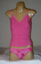 Ladies 2 Piece Camisole Pink  G-String  Thong  Lingerie