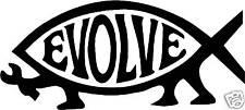 Darwin Pez pegatina coche decal evolucionar