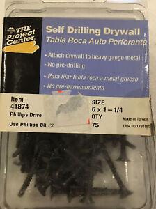 "[3 Packs Of 75] HILLMAN #41874 #6 x 1 1/4"" Self Drilling Drywall Screws"