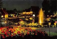 Belgium The Evening at the Parc Fountain Flowers, Meli Park Adinkerke De Panne