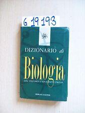 OXFORD UNIVERSITY PRESS - DIZIONARIO DI BIOLOGIA - SPERLING & KUPFER EDITORI