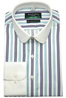 Peaky Blinders shirt Penny Collar Mens White stripes Round Club Shelby Vintage