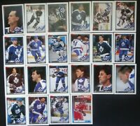 1991-92 Topps Toronto Maple Leafs Team Set of 22 Hockey Cards