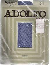 Royal Blue Fishnet Adolfo Pantyhose size B Diamond Lace Sandal Foot 100% Nylon