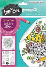 NEW 2 Corinthians 12:9 Colorable Stickers (Faith That Sticks Stickers)