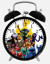 "Sesame Street Alarm Desk Clock 3.75"" Home or Office Decor W96 Nice For Gift"