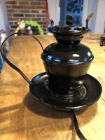 Vintage Black Electric Lantern x Table Lamp Light Rustic Elegance x No Glass
