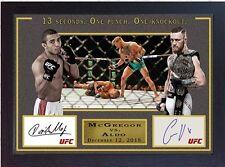 Conor McGregor v Jose Aldo MMA UFC Champion signed autograph Memorabilia Framed