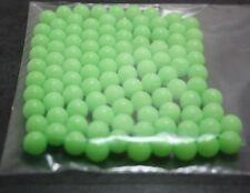 Fishing Beads X100, 8mm, Round, Plastic, Glow, Lumo Luminous, DIY trace,
