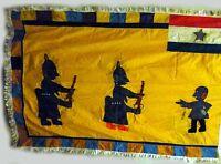 AFRICAN FANTI TEXTILE FANTE ASAFO APPLIQUED MILITARY ARMY GUNS MOTIF FLAG GHANA