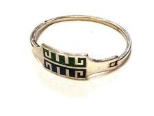 Bijou plaqué argent bracelet alpaca mexico émaillé  idéal pour cadeau