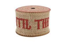 Do Not Open Until 25th Dec Christmas Hessian Ribbon Reel Decorative Gift Wrap