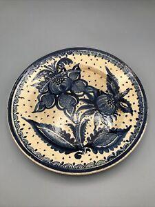 Vintage Mexican Ceramic Pottery Plate Fantasia Tlaquepaque Tonala