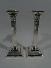 Gorham Candlesticks - A3207 - Pair Classical Columns - American Sterling Silver
