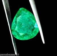 7.30 Ct Good Looking Natural Pear Colombian Green Emerald Loose Gemstone Ebay