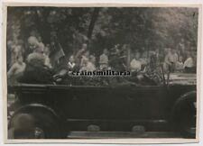 Orig. Foto Präsident von Hindenburg m. Generalstab in Limousine Pkw Oranienhof