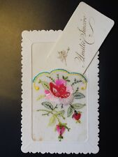 Embroidered Silk Postcard c1925 - Insert & Message on reverse from Ted