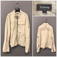 Firetrap Beige Men's Jacket XL 100% Cotton