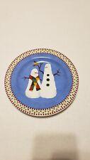 Debbie mumm snowman dinner plate