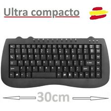 MINI TECLADO MULTIMEDIA COMPACTO USB NEGRO CON LETRA Ñ ESPAÑOL CABLE PC PORTATIL