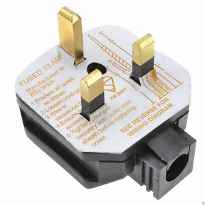 Permaplug 13 Amp 230V UK 3 Pin Heavy Duty Rubber Body Rewirable Plug