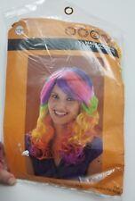 Candi Swirl Wig Club Rave Rainbow Halloween Costume Accessory New