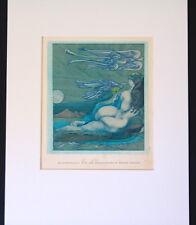 Ernst Fuchs-seltene Bucheinlage-Musterdruck-für die Monographie Ernst Fuchs-1977