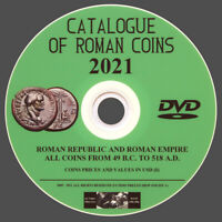 CATALOG OF ROMAN COINS 2021 ON DVD - FOR IDENTIFYING AND VALUES ROMAN COINS- NEW