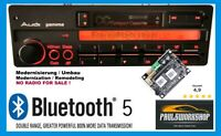 Bluetooth 5.0 AUX Modernisierung Umbau AUDI Gamma CC  AUZ1Z3 & AUZ5Z3 Oldtimer