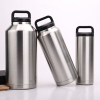 Double Wall Stainless Steel Water Bottle 64/36/18 oz Vacuum Insulated with Pouch