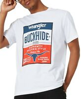 Wrangler Mens T-Shirt Classic White Red Size 2XL Graphic Logo Tee $24- 305